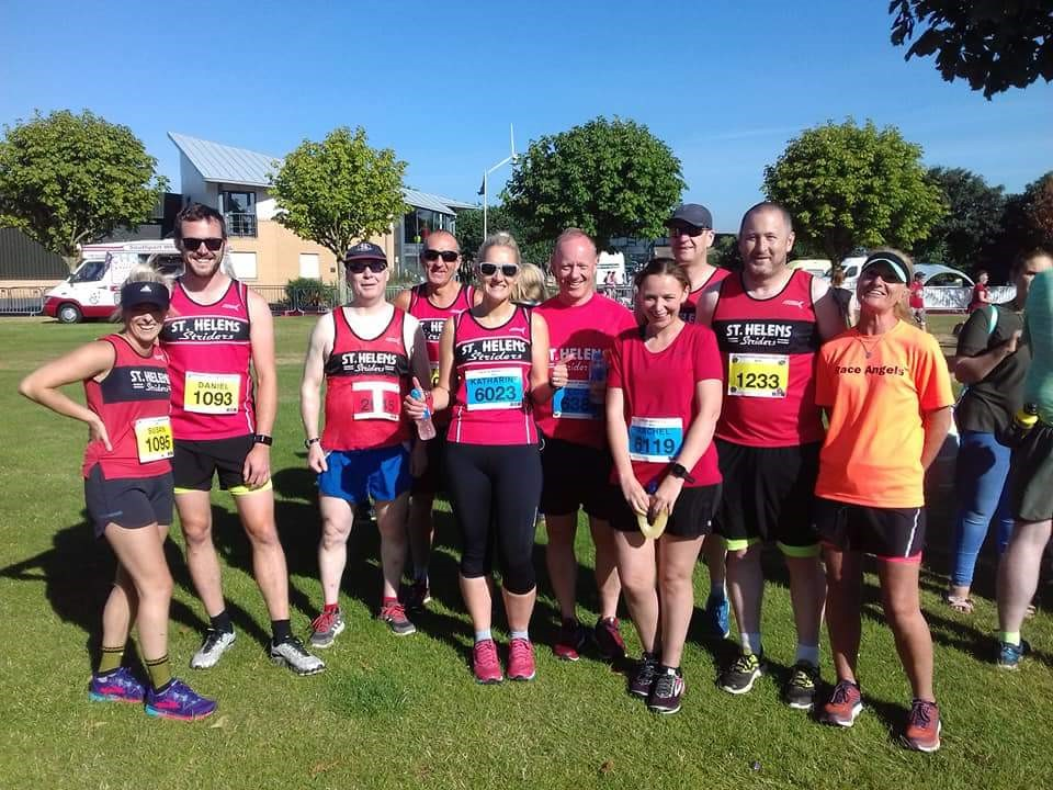 Striders at the very sunny Southport half-marathon