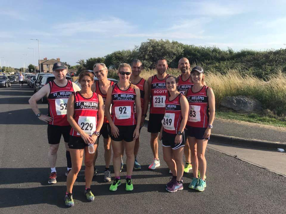 Striders at the sunny Wirral Seaside 5k race