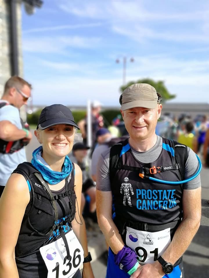 Katie Taggart and Pete Medlicott at the 1st ever Cybi Coastal Marathon