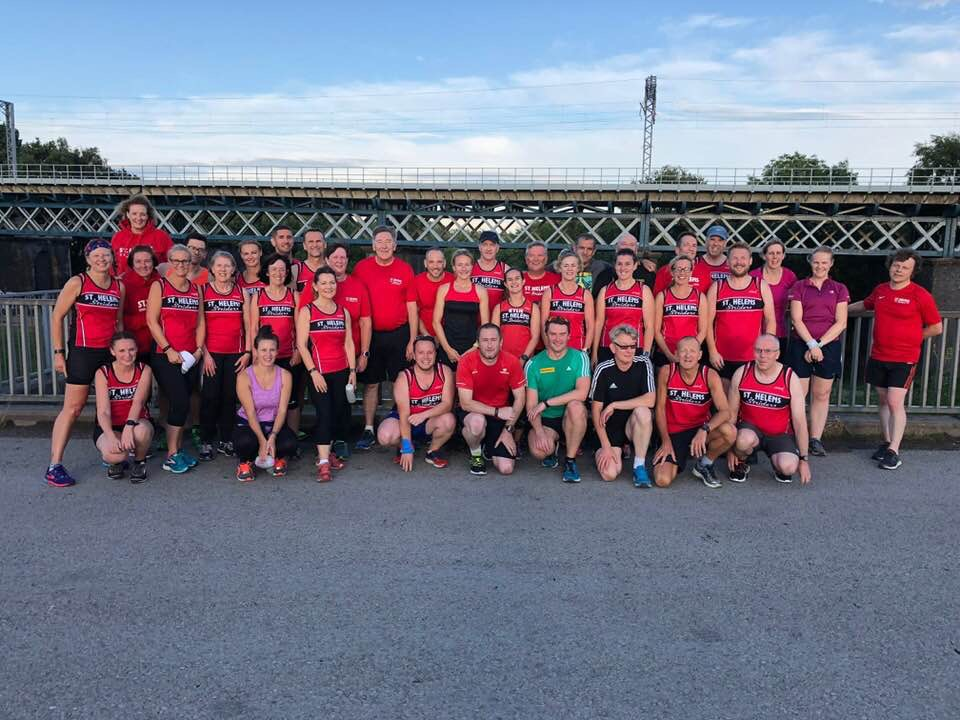 A picture of togetherness at Monday evenings Strider Handicap