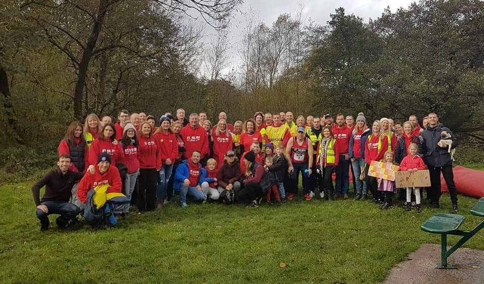 Team Striders out in force marshalling the Trail 5 race, directed by Rachel Tickle