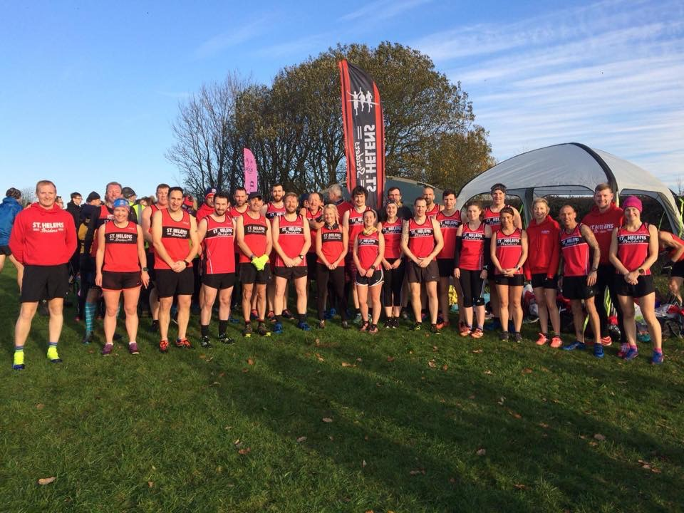 The St Helens Striders at Beacon Park for Round 2 of the Cross Country League