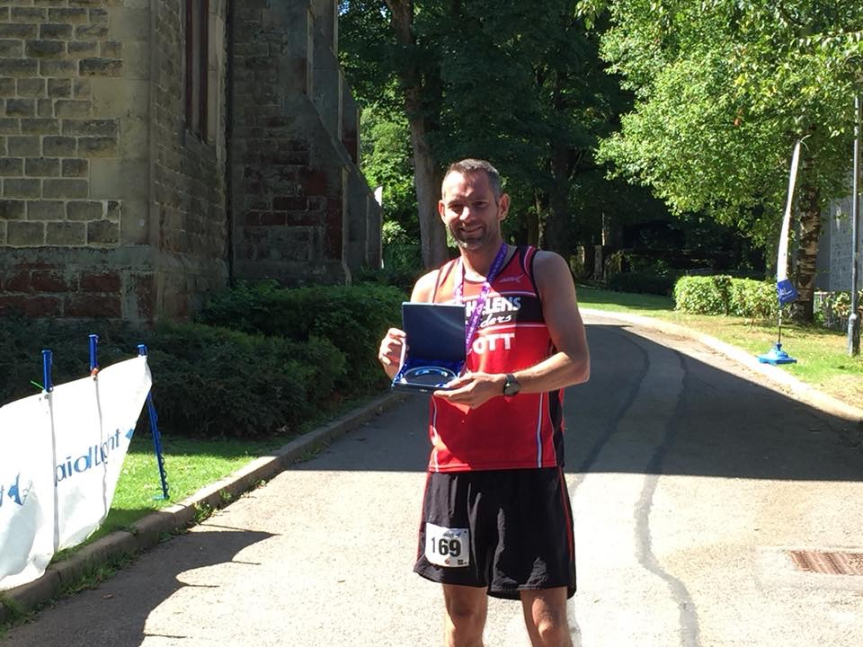 Scott 'the Rocket Robertson' after his success at the Peak Skyline 25k