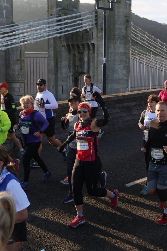 Katie Taggart as Cool as you like at the Conwy Half Marathon